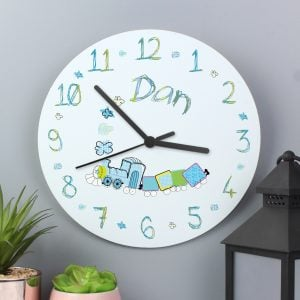Patchwork Train Clock