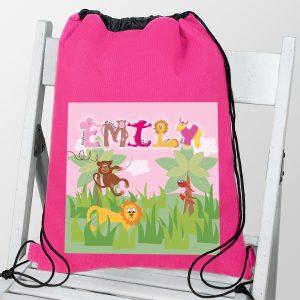 Animal Alphabet Girls Swim & Kit Bag