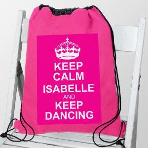 Pink Keep Calm Swim & Kit Bag