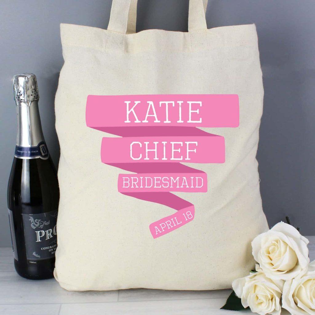 Pink Banner Cotton Bag