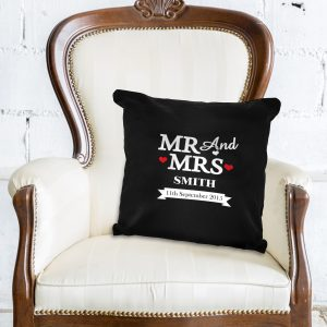 Mr & Mrs Black Cushion Cover