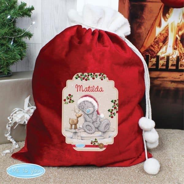 Me to You Reindeer Luxury Pom Pom Sack