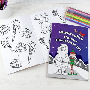 It's Christmas' Elf Colouring Book with Pencil Crayons