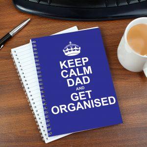 Keep Calm Blue A5 Notebook