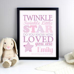 Twinkle Girls Poster Frame
