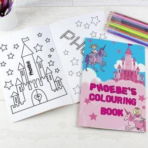 Princess Colouring Book with Pencil Crayons