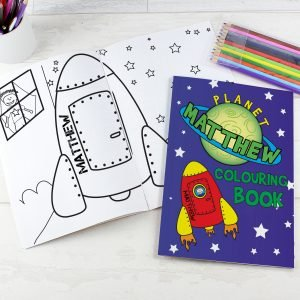 Space Colouring Book with Pencil Crayons