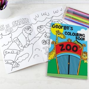 Zoo Colouring Book with Pencil Crayons