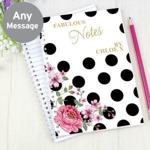 Floral Dot A5 Notebook