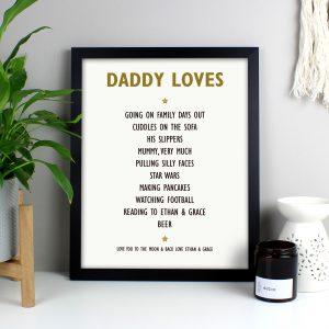 List of Love Poster Frame