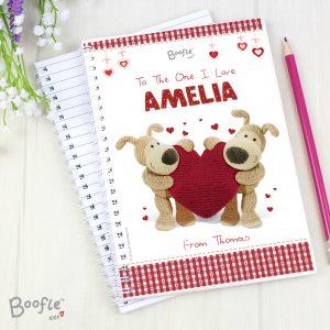 Boofle Shared Heart A5 Notebook
