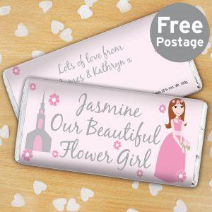 Fabulous Flower Girl Milk Chocolate Bar