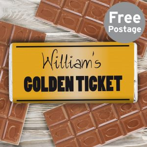 Golden Ticket Milk Chocolate Bar