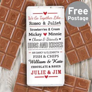 We Go Together Like.... Milk Chocolate Bar