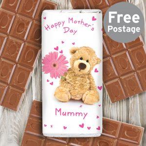 Teddy Flower Milk Chocolate Bar