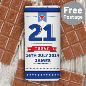 Birthday Star Milk Chocolate Bar