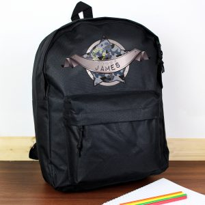 Army Camo Black Backpack