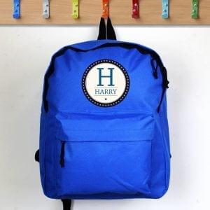 Star Name Blue Backpack