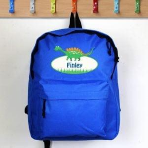 Dinosaur Blue Backpack