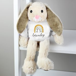 Rainbow Bunny Rabbit In T-Shirt