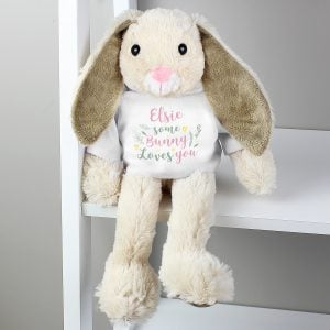 Some Bunny Loves You' Bunny Rabbit In T-Shirt