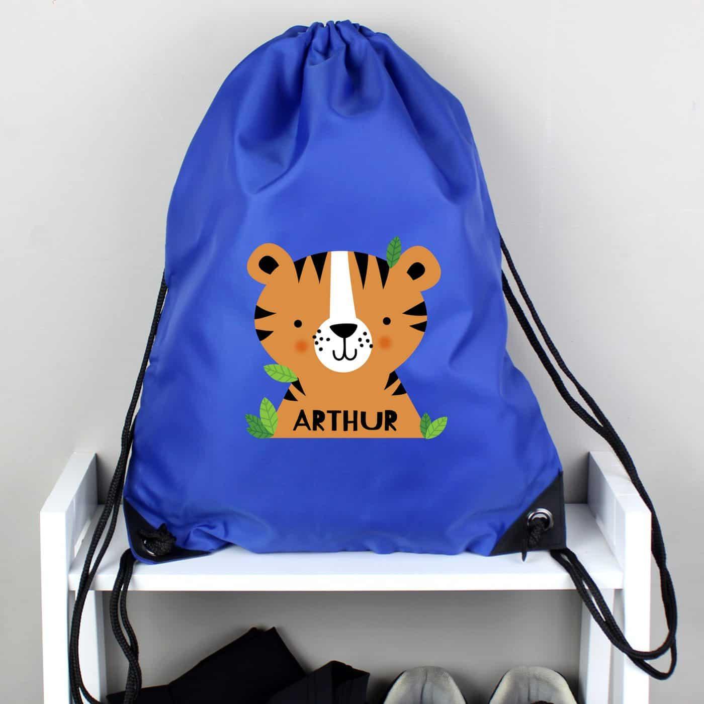 Personalised Tiger Blue Kit Bag