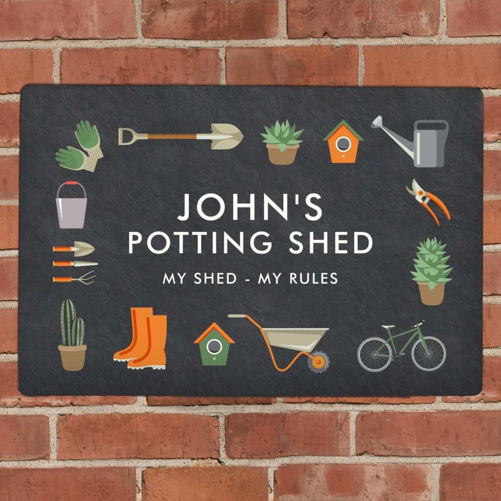 Personalised Gardening Metal Sign