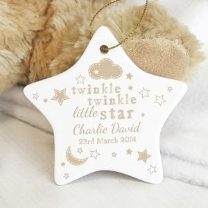 Twinkle Twinkle Ceramic Star Decoration