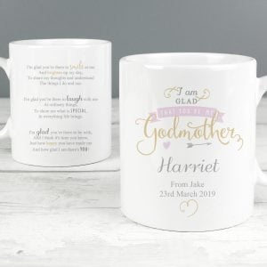 I Am Glad... Godmother Slim Mug