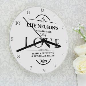 Full of Love Glass Clock