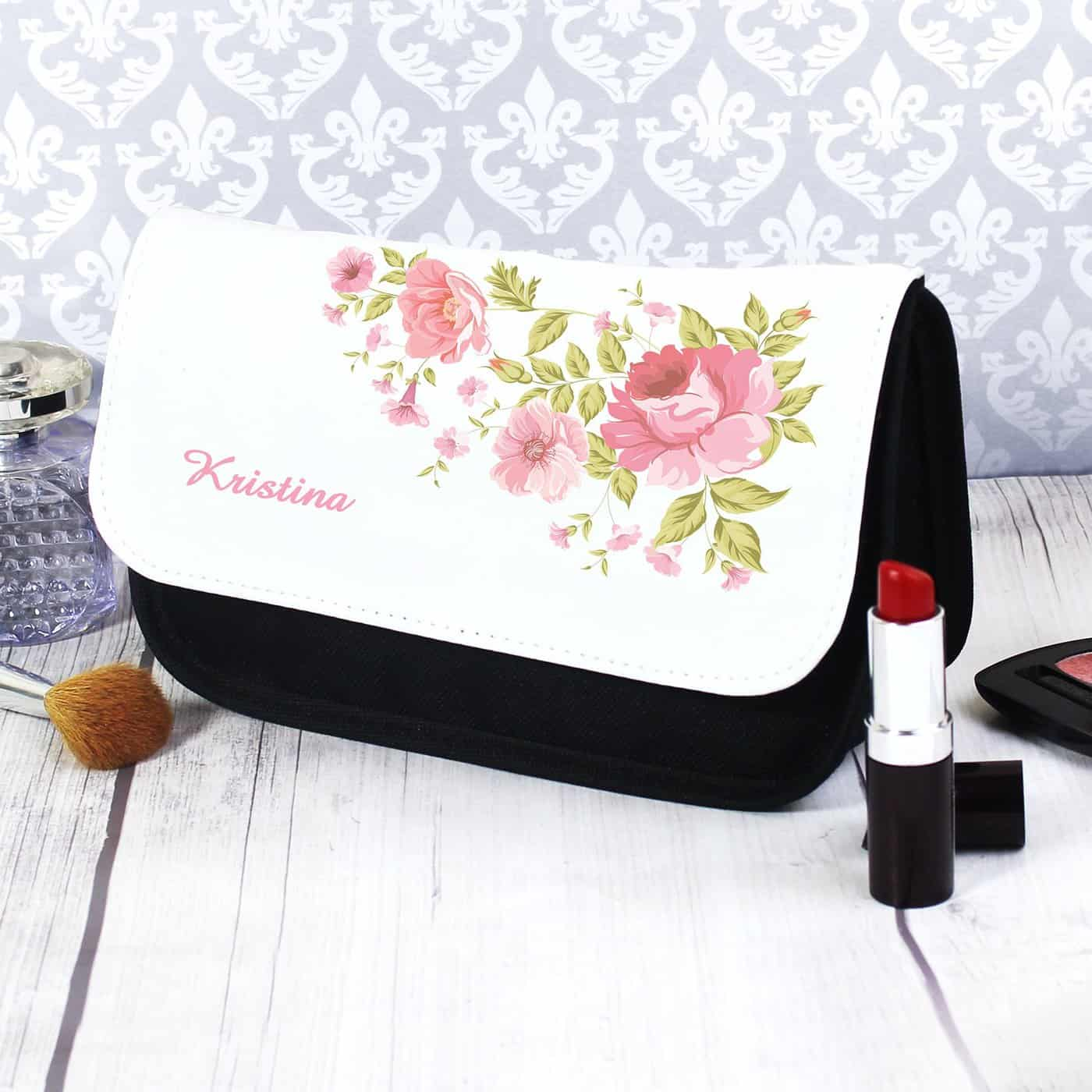 Pretty Rose Make Up Bag