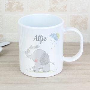 Hessian Elephant Plastic Mug