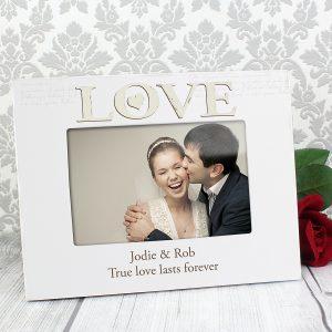 Love White 6x4 Photo Frame