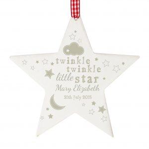 Twinkle Twinkle Wooden Wooden Star Decoration