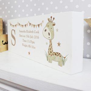 Hessian Giraffe Mantel Block