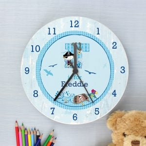 Pirate Shabby Chic Large Wooden Clock