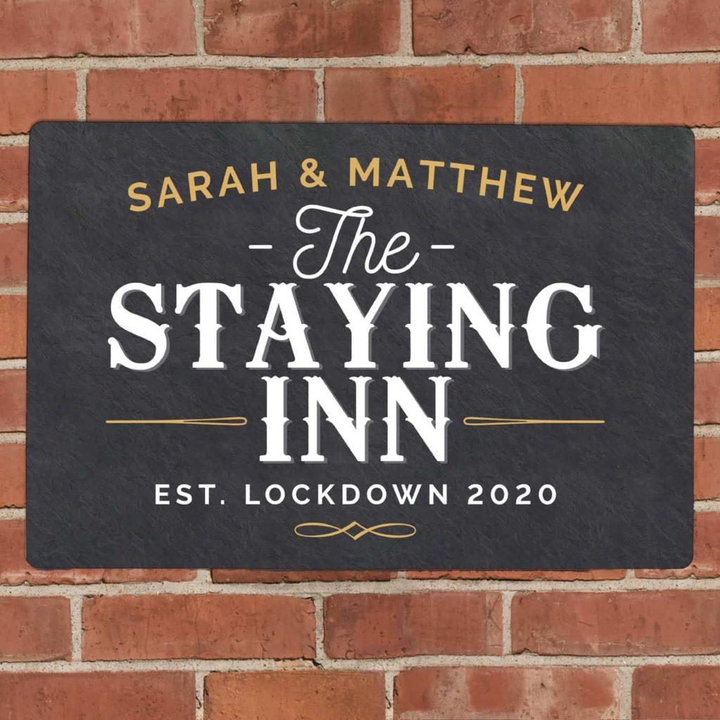 Personalised Staying Inn Metal Sign