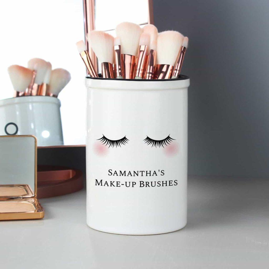 Personalised Eyelashes Ceramic Storage Pot
