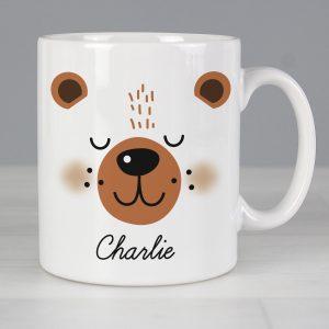 Personalised Cute Bear Face Mug