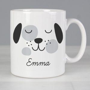 Personalised Cute Dog Face Mug