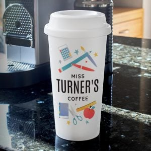 Personalised Teachers Insulated Eco Travel Cup