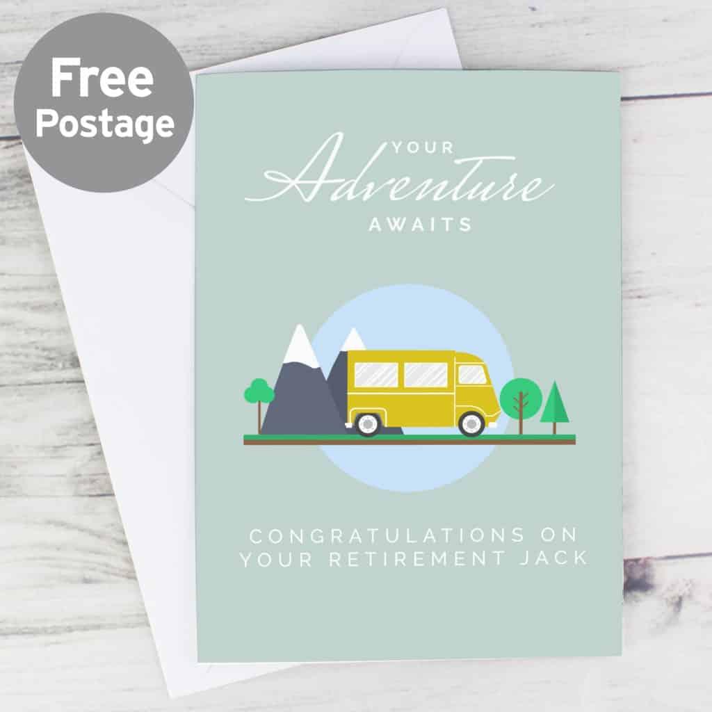Personalised Leaving, Retirement, Adventure Card