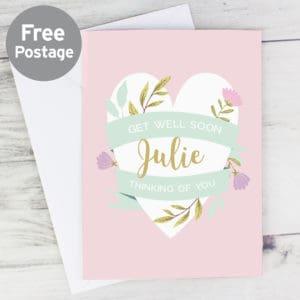 Personalised Floral Heart Card - Julie