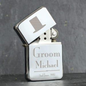 Personalised Decorative Wedding Groom Lighter