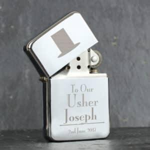Personalised Decorative Wedding Usher Lighter