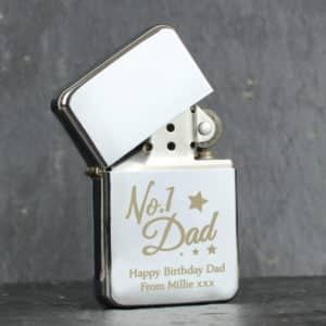 Personalised gifts for dad Silver Lighter
