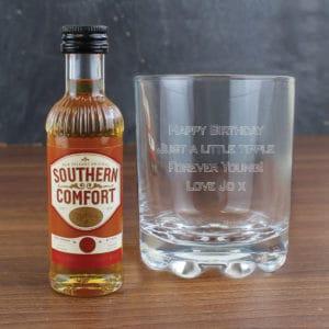 Personalised Tumbler & Southern Comfort Miniature Set