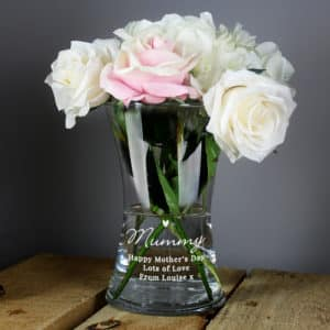 Personalised Love Heart Glass Vase