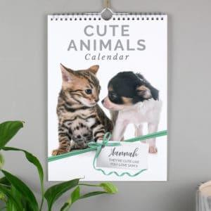 Personalised A4 Cute Animals Calendar