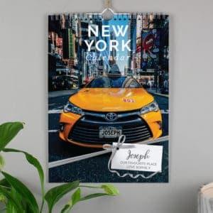Personalised A4 New York Calendar